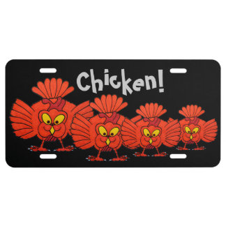 Whacky Chickens licence Plate License Plate