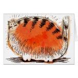 whacky orange cartoon cat greeting card