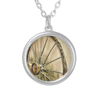 Whagon Wheel Silver Plated Necklace