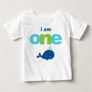 Whale 1st Birthday T-shirt Toddler Baby Kid