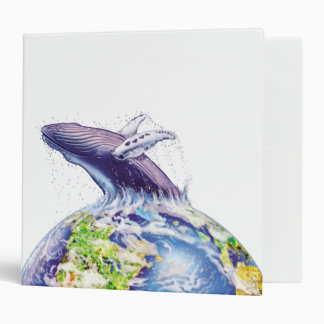 whale and earth design 3 ring binder