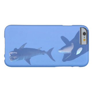 Whale and megalodon underwater - 3D render Barely There iPhone 6 Case