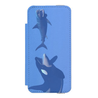 Whale and megalodon underwater - 3D render Incipio Watson™ iPhone 5 Wallet Case
