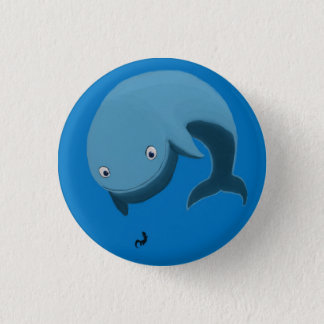 Whale and Otter 1 Inch Round Button