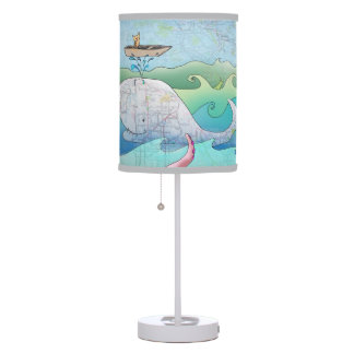 "Whale and Owl ""on a boat"" lamp"