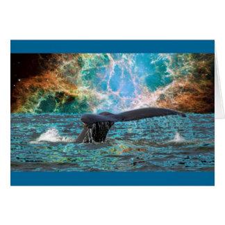 Whale and Supernova Card