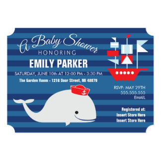 Whale  |  Baby Shower Invitation