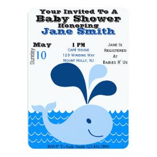 Whale Baby Shower Invite (Boy)