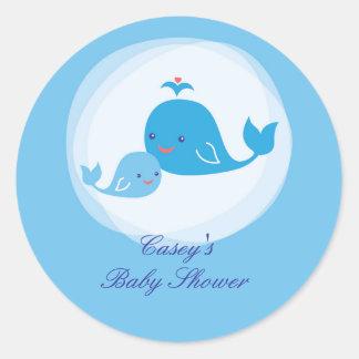 Whale Baby Shower Sticker
