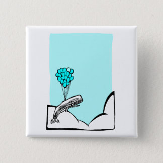 Whale Balloon #2 2 Inch Square Button