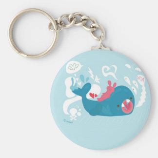 whale!!!!!! basic round button keychain
