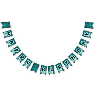 Whale Birthday Swallowtail Party Bunting Banner
