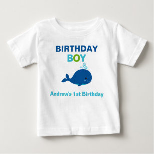 Whale Birthday T Shirt Toddler Baby Kid