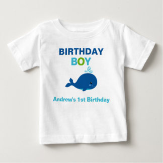 Whale  Birthday T-shirt Toddler Baby Kid