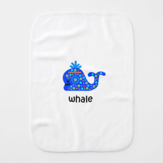 Whale Burp Cloth
