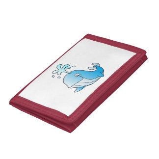 whale cartoon tri-fold wallets