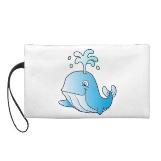 whale cartoon wristlet