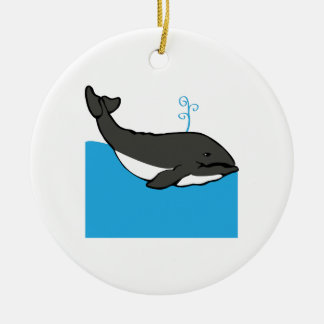 Whale Ceramic Ornament