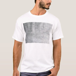 Whale Chart of the North Pacific, 1851 T-Shirt