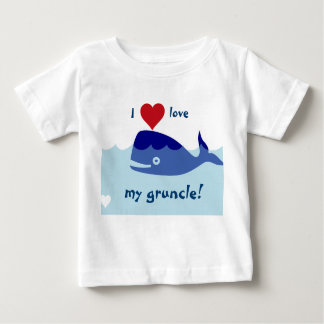 Whale design with I love my gruncle! Baby T-Shirt