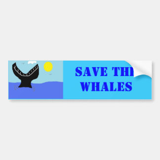 whale dive (2) bumper sticker