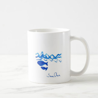 Whale family coffee mug