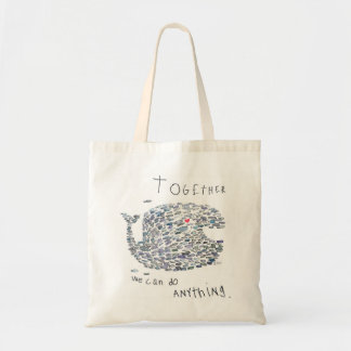 whale for a cause! tote bag