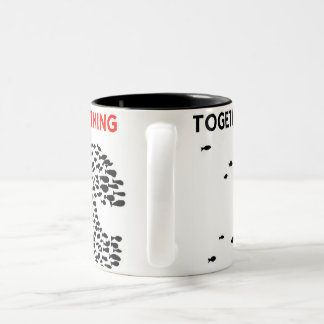 whale for a cause! Two-Tone coffee mug