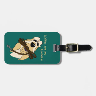 Whale gravel of acres my therapy luggage tag