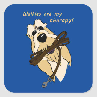 Whale gravel of acres my therapy square sticker