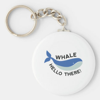 Whale Hello There! Basic Round Button Keychain