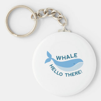 Whale Hello There! Keychain