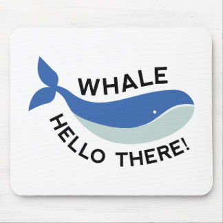 Whale Hello There! Mouse Pad