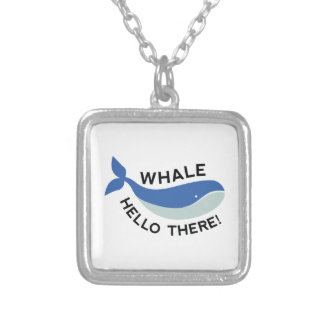 Whale Hello There! Silver Plated Necklace
