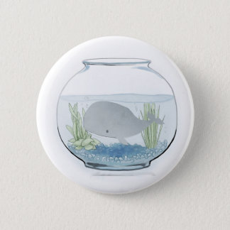 Whale in a Fishbowl 2 2 Inch Round Button