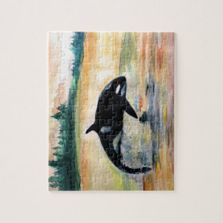 Whale in  Jump Photo Puzzle with Gift Box