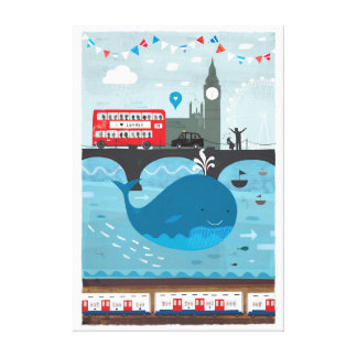 Whale In The Thames Canvas Print