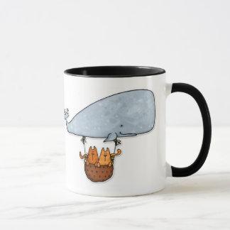whale kitties mug