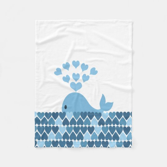 Whale Love Fleece Blanket