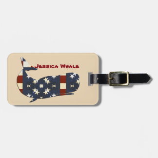 Whale Luggage Tag