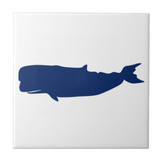 Whale Navy Tile
