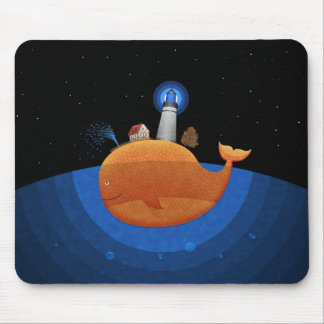 Whale (Night) Mouse Pad
