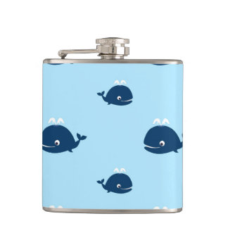 Whale of a Time Hip Flask