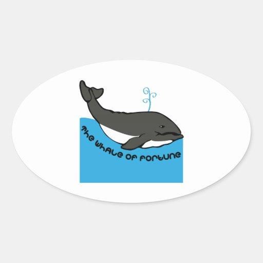 Whale Of Fortune Sticker