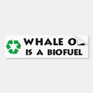 Whale Oil Is a Biofuel Bumper Sticker
