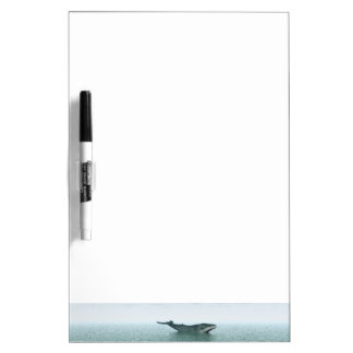Whale on the sea dry erase whiteboard