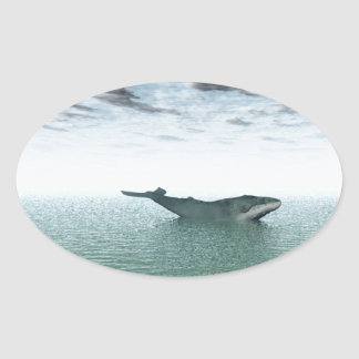 Whale on the sea sticker