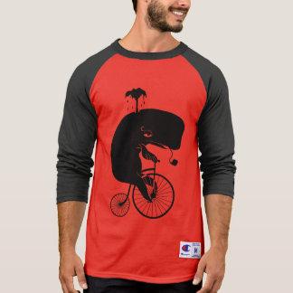 Whale on Vintage Bike T-Shirt