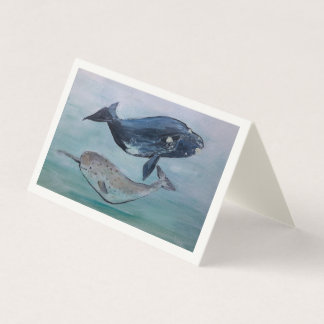 Whale Painting card
