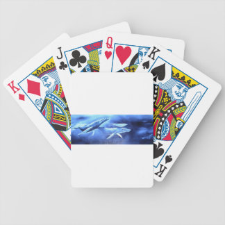 Whale Pod Blue Ocean Bicycle Playing Cards